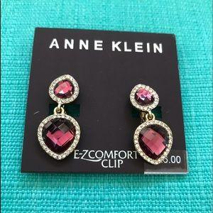 Anne Klein NWT lavender drop earrings